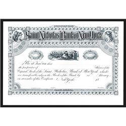 Souvenir Card. St. Nicholas Bank of New York Certificate. 1993.