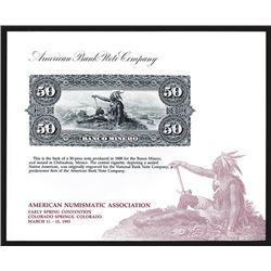 Souvenir Card. American Numismatic Association. Spring 1993.