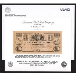 Souvenir Card. American Numismatic Association. Summer 1992.