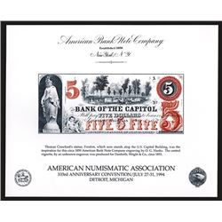 Souvenir Card. American Numismatic Association. Summer 1994.