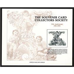 Souvenir Card. Souvenir Card Collector's Society. 1991.