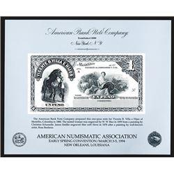 Souvenir Card. American Numismatic Association. Spring 1994.