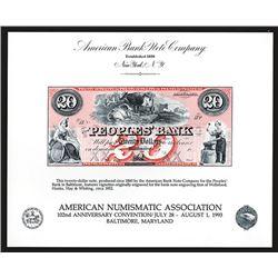 Souvenir Card. American Numismatic Association. 1993.