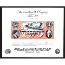 Souvenir Card. Central States Numismatic Society. 1994.