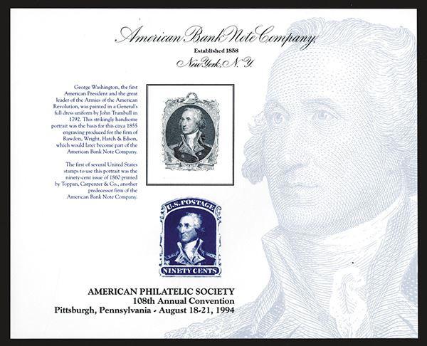 Souvenir Card  American Philatelic Society  1994