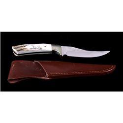 J. Jacobs Custom 440 Elk Horn Handle Knife