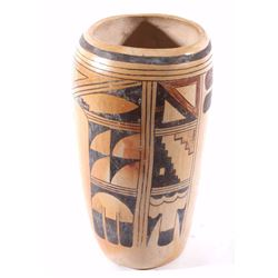 Hopi Polychrome Pottery Vase Early to Mid 20th C.