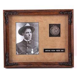 Montana Rough Riders Framed Presentation Medal