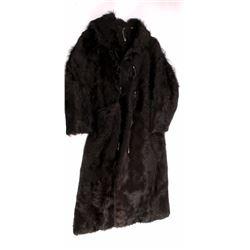 Antique Stagecoach Driver Bear Fur Coat