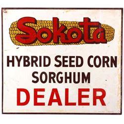 Sokota Seed Corn Dealer Advertising Sign