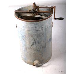 Antique Early Galvanized Honey Extractor