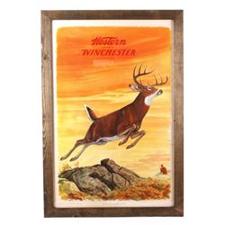 1955 Western Winchester Advertising Lithograph