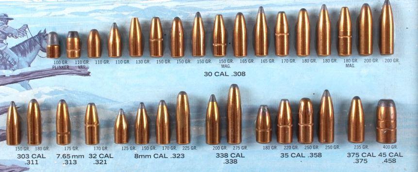 Early Speer Bullet Caliber Advertising Display