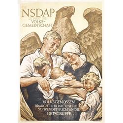 Original NSDAP Poster WW II
