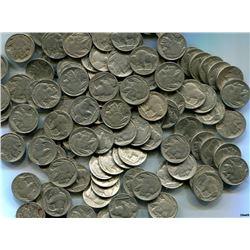 125 Buffalo Nickels- Circulated Partial Dates