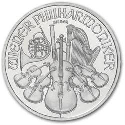 Roll of Austrian Philharmonic Silver Bullion-(20)