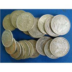 Lot of 20 Morgan Silver Dollars-