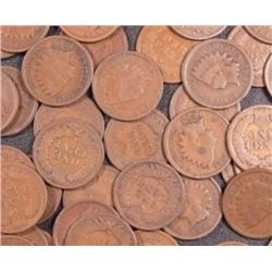 Lot of 50 Indian Head Cents- AG Circulated