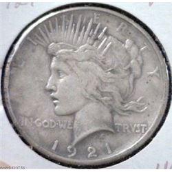 1921 peace Silver Dollar First Year-