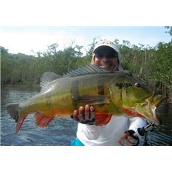 Fishing trip in the Amazon region of Brazil for one angler (7 days)