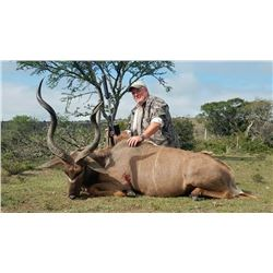 Nine-day plainsgame safari in South Africa for two hunters.