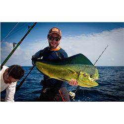 Three day tower boat offshore or inshore fishing package in Costa Rica for two anglers