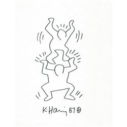 KEITH HARING: STACKED MEN.