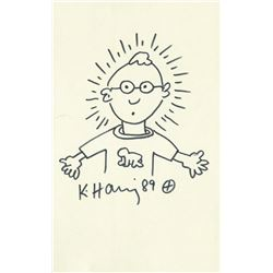 KEITH HARING: SELF PORTRAIT.
