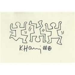 KEITH HARING: BREAK DANCING MEN.