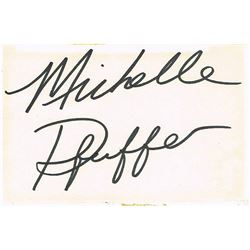 MICHELLE PFEIFFER SIGNED CARD.