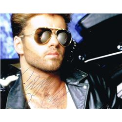 GEORGE MICHAEL SIGNED PHOTO.