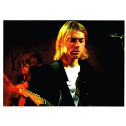 KURT COBAIN SIGNED PHOTO.