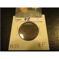 1859 Canada Large Cent. EF.