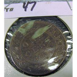1882H Canada Large Cent. EF.