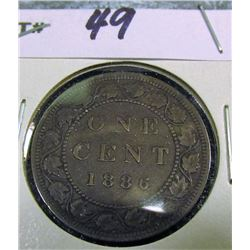 1886 Canada Large Cent. EF.