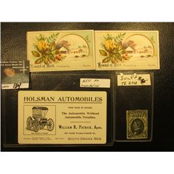 """Series of 1902 """"2 1/2 Ounces Snuff United States Act of April 12, 1902"""" Stamp, """"Depicts Seward""""; pai"""