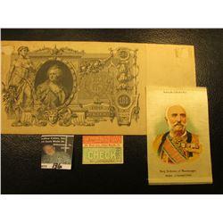 """Factory No. 7. 5th Dist. N.J. King Nicholas of Montenegro Nebo Cigarettes"" Silkie; ""The Union Pacif"