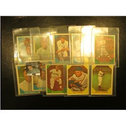 """(11) Old Fleer """"Baseball Greats"""" Cards dating back more than thirty years."""