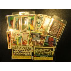 """1982 Topps """"Matt Keough"""" # 87 Card with his personal Autograph; & (18) other 30+ year old Famous Bas"""