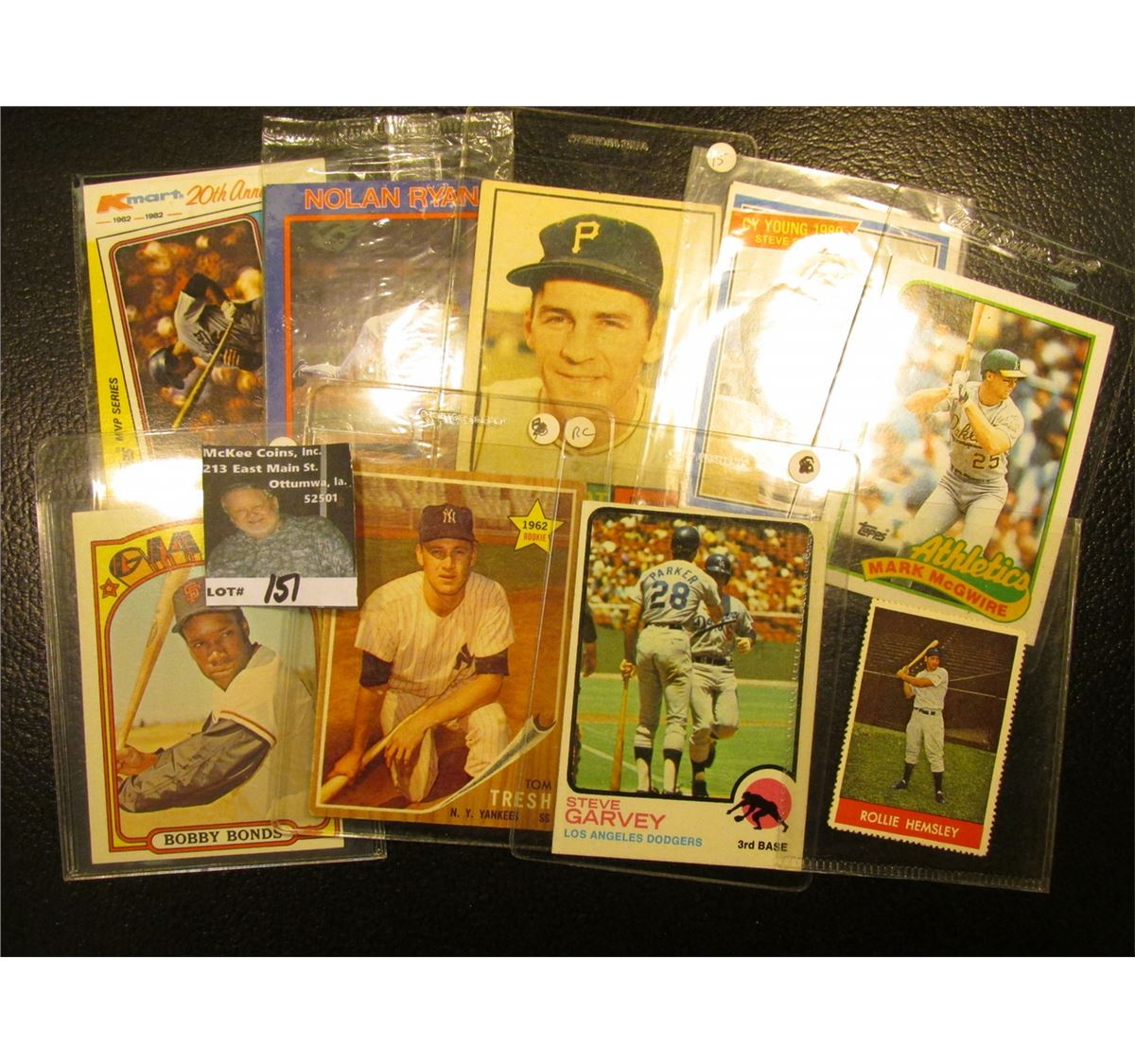 1982 Topps Steve Garvey Mvp Kmart 20th Anniversary Card With Original Autograph 10 Other All