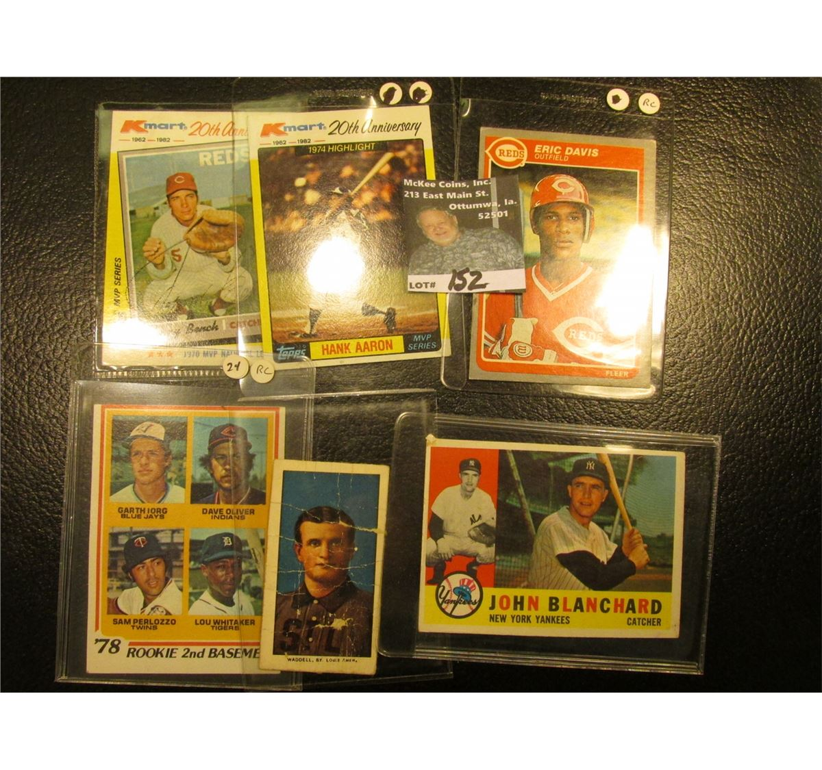 1982 Topps Johnny Bench Mvp Kmart 20th Anniversary Card With Original Autograph 5 Other All S