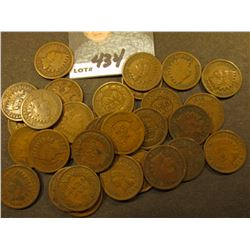 1864 Bronze, 1865, 1879-85, 1887-95, (2) 96, 97-1908 Indian Cents all average Good to VG. (32 pcs.).