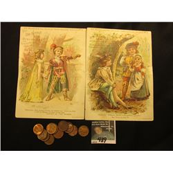 "(2) Different Advertising Cards ""H.E. Bucklen & Co's. Juvenile Shakespearean Series 1, No. 4 & 5""; &"