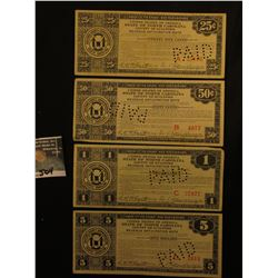 "July 29, 1933 25c, 50c, $1, & $5 Depression Scrip ""United States of America State of North Carolina"