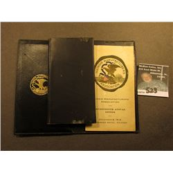 Folding Wallet with notepad and address book  Illinois Manufacturers Association Seveteenth Annual D