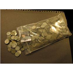 (500) Old World War II Steel Lincoln Cents. Circulated.