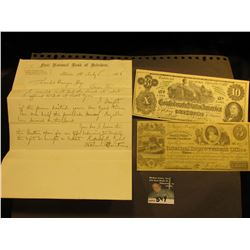 Civil War Era letter July 5, 1865 on letter head from  First National Bank of Belvidere  Belvidere,