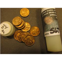 (11) 1944 D Uncirculated Lincoln Cents in a Plastic tube.