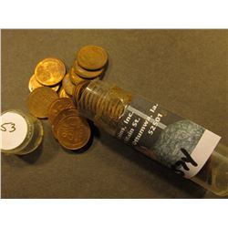 1953 D AU to Uncirculated Roll of Lincoln Cents in a Plastic tube.
