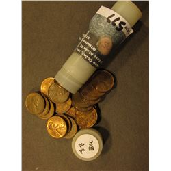 1944 P AU to Uncirculated Roll of Lincoln Cents in a Plastic tube.